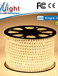 Mlight 10 M 72 leds/m 5050 SMD Blanc chaud/Blanc Etanche/Découpable 9 W Bandes Lumineuses LED Flexibles AC110-220 V