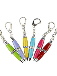 Mini Ballpoint Pen with Keychain Random Color