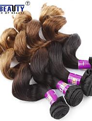 3 unidades / lote 7a 3t virgem malaio onda solta o cabelo de trama 100% cabelo humano virgem não transformados tece