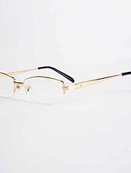 [Lentes Gratis] Unisex 's Rectángulo Media Montura Gafas de Leer