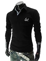 Vintage Hemdkragen - Langarm - MEN - T-Shirts ( Baumwoll Mischung )