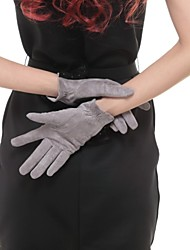 long leather gloves for women