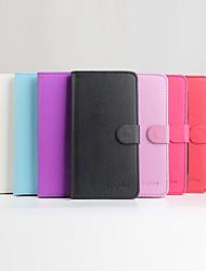Для Кейс для DOOGEE Кошелек / Бумажник для карт / со стендом / Флип / Магнитный Кейс для Чехол Кейс для Один цвет ТвердыйИскусственная