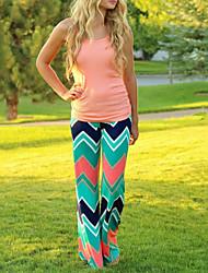 Women's Fashion Printed Straight Long Pants