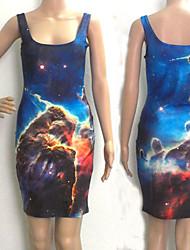 étoiles galaxie neptune robe patineuse club de nuit uniforme