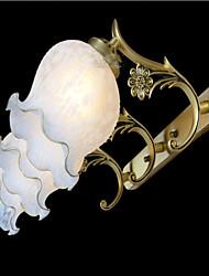 miroir à trois feux en bronze de verre européen 220v classique rétro