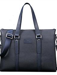 la moda de impresión de alta calidad x.bnj división de cuero para los hombres azul maletines de diseño únicos hombres del bolso del