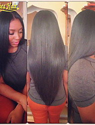 New Styles 100% Human Hair Lace Front Wig Straight Brazilian Hair Lace Wig With Baby Hair For African American Women