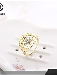 Sjeweler Girls Fashion 18K Gold Plated Zircon Wedding Ring