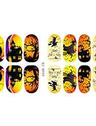 Harajuku Style Luminous Halloween Nail Stickers