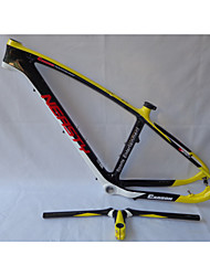 MB-NT202G5 Neasty Logo High Qulity Yellow Color 29er Full Carbon Fiber Mtb Frameset Frame and Handlebar