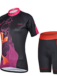 Women's Short Sleeve Bike Jersey + Short Sets Cycling Clothing