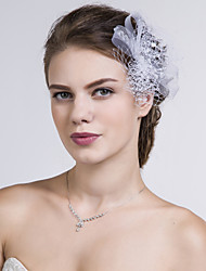 Women Net Flowers With Multi-stone Wedding/Party Headpiece