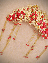 Bride's Tassel Forehead Hair Clip Headdress Wedding Accessories 1 PC