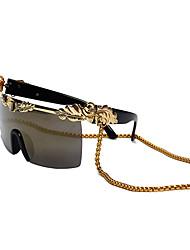 Gafas de Sol hombres / mujeres / Unisex's Elegant / Retro/Vintage / Moda Envuelva Negro / Dorado Gafas de Sol Completo llanta