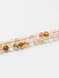 Beadia 39Cm/Str (Approx 98Pcs) Natural Stone Beads 4mm Round Watermelon Pink Quartz Loose Beads DIY Accessories