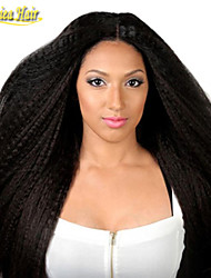 8A Peruvian Hair Full Lace Human Hair Wigs Peruvian Kinky Straight Human Hair Lace Front Wigs For Black Women