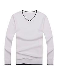 Men's Casual Pullover V Neck Winter Sweater