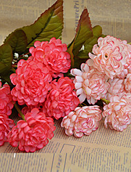 Polyester Chrysanthemum Fleurs artificielles