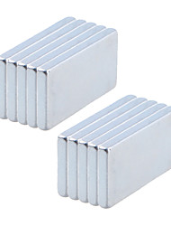 20 x 10 x 2mm Strong Rectangle NdFeB Magnets (10 PCS)