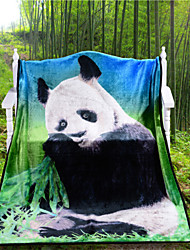 Panda Print Blanket 3D Vivid cobertor de microfibra Blanket Super Warm Soft Best Gift Cool Blanket Throw