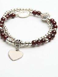 Women's Garnet Alloy Strand Bracelet