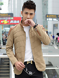 Men's PU Collar  Slim  jacket
