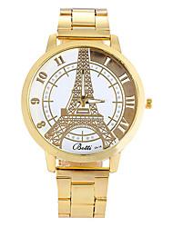 Women Watches Gold Watch Women Fashion Alloy Eiffel Tower Quartz Watch Cool Watches Unique Watches
