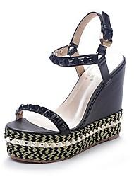 Women's Shoes Wedge Heel Wedges Sandals Casual Black/Beige
