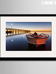 The Memory Of Stay At The Dock Landscape Framed Canvas Print