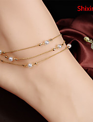 Shixin® Alloy/Imitation Pearl Anklet Party/Daily/Casual 1pc