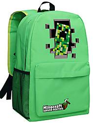 Minecraft backpack Enderman day pack New School bag Nylon rucksack Game daypack Green 049