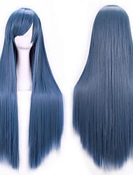 nouvelle cosplay anime longs cheveux raides perruque 80cm