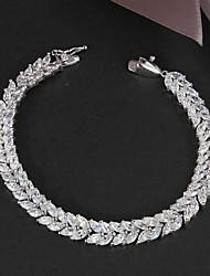 vente de promotion partie plaqué platine lien / gourmette grande brillance bracelet réel de zircon