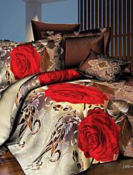 Dianya 3d imprimés textiles pour la maison quatre pièces ensemble