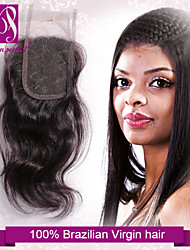 """10""""-20"""" Brazilian Hair Lace Closure Natural Wave Size 4""""x3"""" Inch Human Hair Lace Top Closures"""