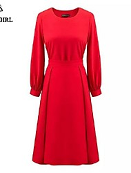 LIVAGIRL®Women's Suit Fashion Sexy Red Long Sleeve T-shirt+High Waist Slim Length Skirt Two-piece Casual Party Dress