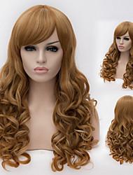 fil à haute température européennes et américaines de haute qualité grosse vague fille nécessaire perruques de cheveux de la mode