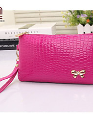 Handcee® Hot and New Fashion Woman PU Embossing Wristlets Bag