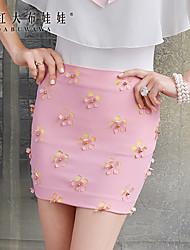 Damen Röcke  -  Bodycon/Leger Mini Elasthan/Polyester Mikro-elastisch