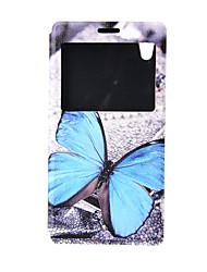 Pour Coque Sony Avec Support / Avec Ouverture / Clapet Coque Coque Intégrale Coque Papillon Dur Cuir PU pour SonySony Xperia Z3 Compact /