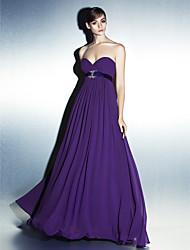 Lanting vestido de noite formal - uva / como imagem mais tamanhos / petite uma linha de Sweetheart Andar de comprimento georgette