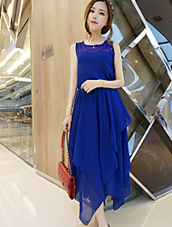 Women's Vintage/Sexy/Beach/Casual/Cute/Party/Maxi/Plus Sizes  Sleeveless Midi Dress