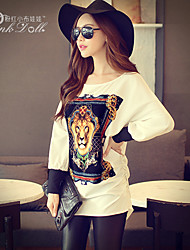 Pink Doll®Women's Casual/Print Loose Asymmetrical Batwing Sleeve Long Blouse