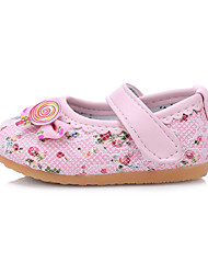 Baby Shoes Outdoor/Dress/Casual Cotton Flats Pink/White