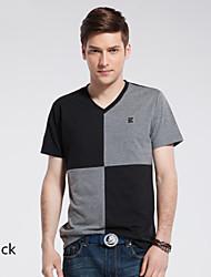 de nieuwe zomer mannen met korte mouwen t-shirt v kraag mens overhemd en slanke Koreaanse getij