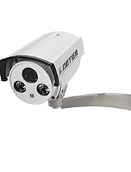 Cotier-1.3MP COMS Temps réel WDR Etanche Bullet Caméra IP (vision nocturne de jour, détection de mouvement)