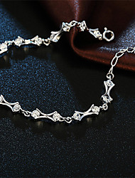 Classic Elegance Style  S925  Silver  Tenderness around  Chain & Link Bracelets