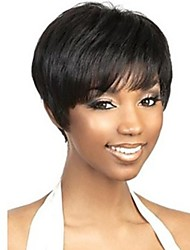 Capless Black Extra Short High Quality Natural  Straight Synthetic Wig