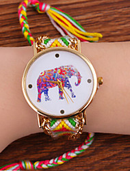 Bohemian Style Women'S Fashion Watches Elephant Hand-Woven Watches Students Watch Cool Watches Unique Watches